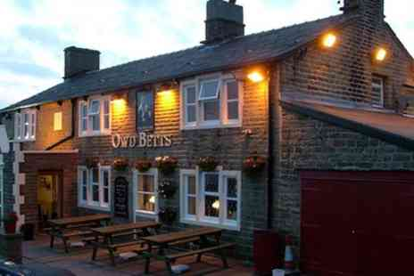 Owd Betts Country Inn - Choice of Main with One or Two Bottles of Wine for Two or Four - Save 52%