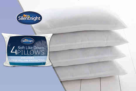 Chums - Four Silentnight bounce back pillows - Save 53%