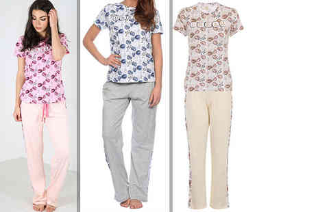 Bejealous - Dream slogan pyjama set  choose from three colours - Save 60%