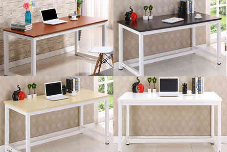 Sashtime - 1.2 metre office desk with wooden top choose from four colours - Save 46%