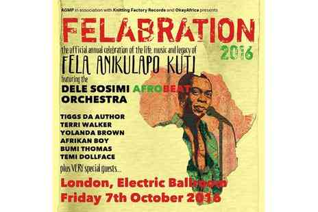 Felabration 2016 - One ticket to Felabration 2016 on 7 October - Save 25%