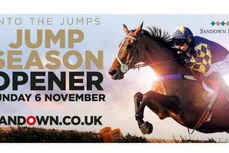 Sandown Park Racecourse - Jump Season Opener Tickets on 6 November at 12.45pm - Save 0%