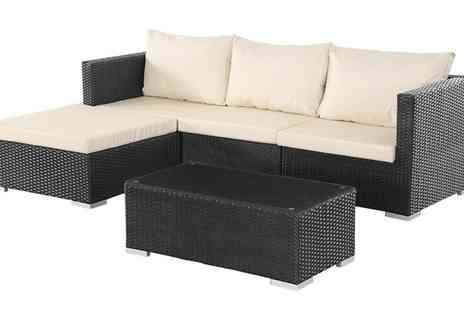 Groupon Goods Global GmbH - Corner Sofa Rattan Effect Set With Free Delivery - Save 0%