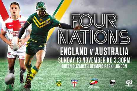 The Rugby Football League - The 2016 Four Nations England v Australia Ticket on 13 November - Save 0%