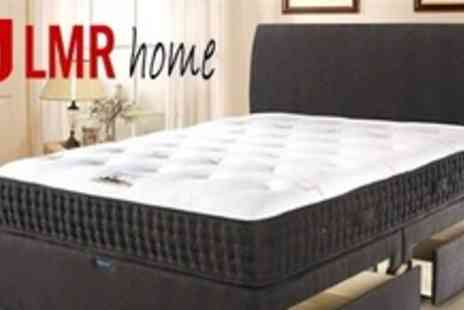 LMR Home - Handmade Double Divan Bed Set With Memory Foam Sprung Mattress - Save 63%