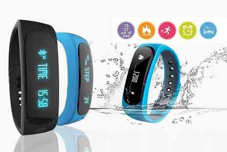 TLD Marketing - 12 in 1 Bluetooth fitness tracker choose black, blue, orange, white or green - Save 0%