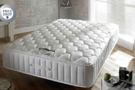 Groupon Goods Global GmbH - Bamboo 3000 Memory Foam and Pocket Sprung Mattress With Free Delivery - Save 83%