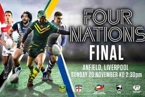 The Rugby Football League - The 2016 Rugby League Four Nations Final One Child or Adult Ticket on 20 November - Save 0%