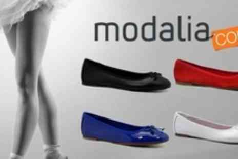 Modalia - One Pairs Of Leather Ballerina Pumps - Save 50%