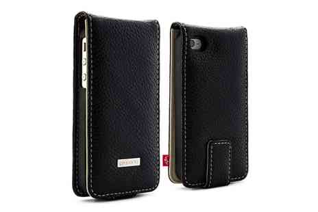 Groupon Goods Global GmbH - Proporta iPhone Five Leather Case in Black - Save 88%