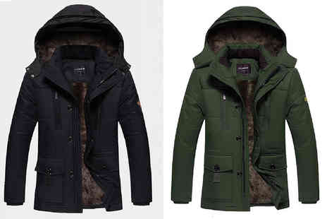 Bluebell Retail - Mens fleece lined parka coat choose from six autumnal colours - Save 57%