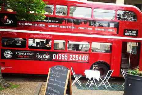Red Bus Bistro - Tour of Edinburgh on a vintage bus for two & luxury afternoon tea or a gourmet burger meal - Save 58%