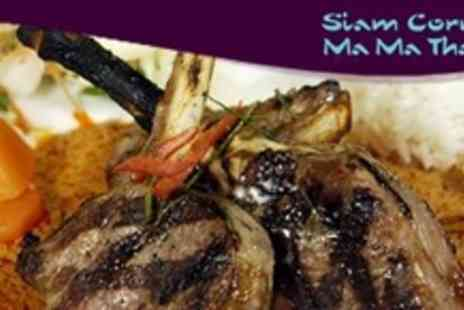 Siam Corner Ma Ma Thai Lichfield - Thai Meal for Two with Starters and Mains Plus Sides - Save 60%