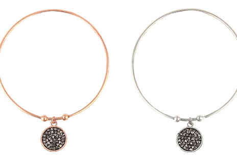 Elle and Be - Crystal Coin Bangle in 2 Colours - Save 73%