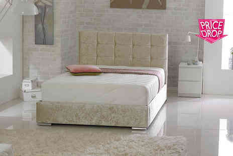 Cheap Mattresses - Crushed velvet single, small double, double or king size bed or with mattress - Save 0%