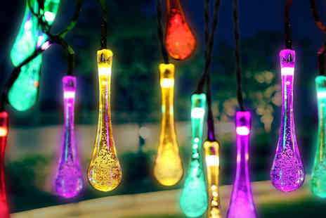 Chimp Electronics - String of solar powered coloured fairy lights - Save 70%