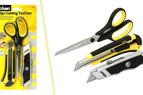Home and Kitchen Direct - Three Piece Rolson Cutting Tool Set - Save 60%