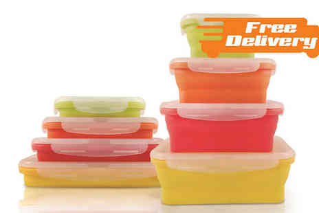 Home and Kitchen Direct - Four Foldable Food Containers - Save 40%