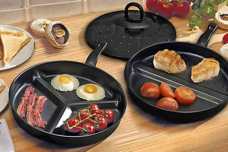 Sashtime - Set of two divider frying pans - Save 72%
