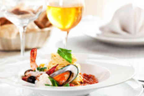 Little Sicily - Two course Italian meal for 2, inc. main, dessert, glass of wine - Save 63%
