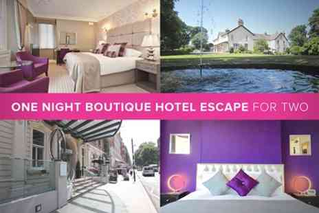 Boutique Hotel - One Night Boutique Hotel Escape for Two - Save 0%