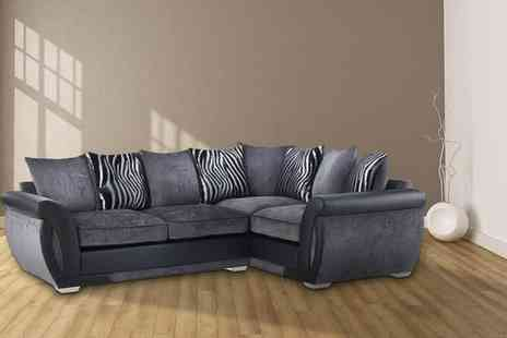 Sit Down Sooner - Grey Macy corner sofa with two or three seater sofa - Save 70%
