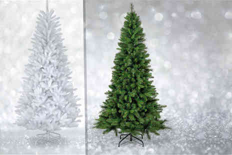 UK Home and Garden - Six foot artificial Christmas tree choose green or white - Save 67%