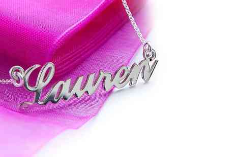 Love Silver - Sterling silver personalised name necklace - Save 48%