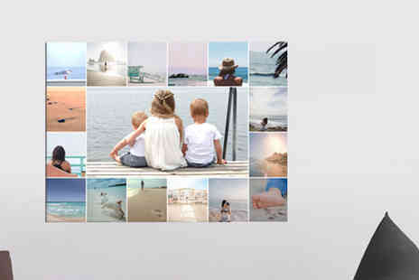"Discount Photo Prints - 10"" x 10"" photo collage, choose from five sizes - Save 91%"
