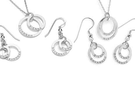 Jewells' House - Personalised Sterling Silver Double Rings Jewellery Set With Free Delivery - Save 0%
