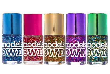 Groupon Goods Global GmbH - Five Pack Models Own Nail Polishes from Mirrorball Collection - Save 0%