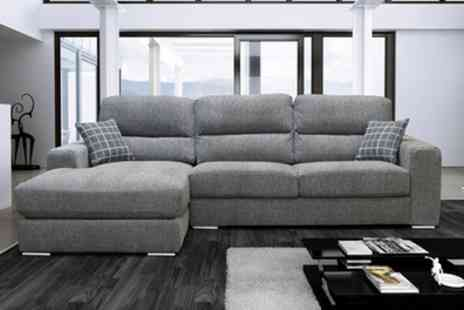 Groupon Goods Global GmbH - Pisa Corner Sofa in Choice of Colour With Free Delivery - Save 60%
