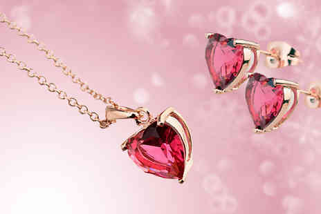 Crystal Crush - Pink Crystal Heart Duo Set - Save 75%