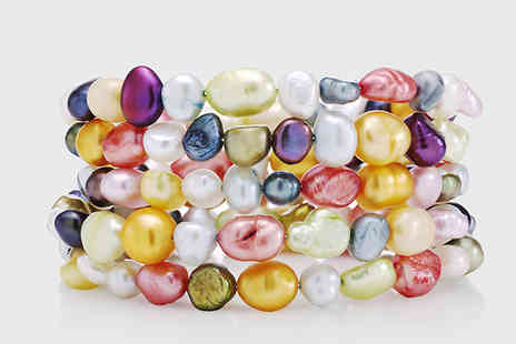 pearlshed - Freshwater Pearl Rio Bracelet 3 or 5 Rows - Save 77%
