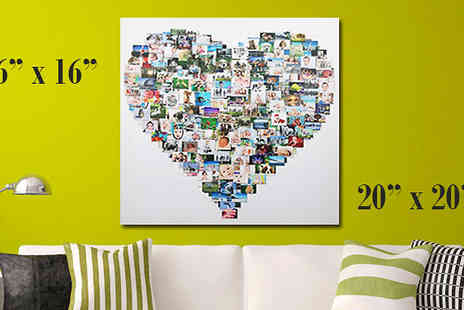 Your Perfect Canvas - Personalised Photo Collage Available In Two Sizes - Save 76%