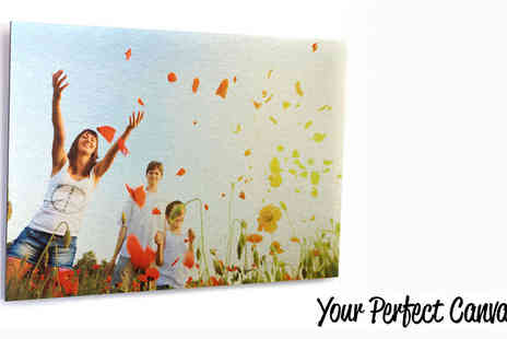 Your Perfect Canvas - Personalised Aluminium Print Four sizes - Save 77%