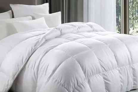 Groundlevel - Single, double, king or super king size hotel quality 13.5 tog duck and down duvet - Save 67%