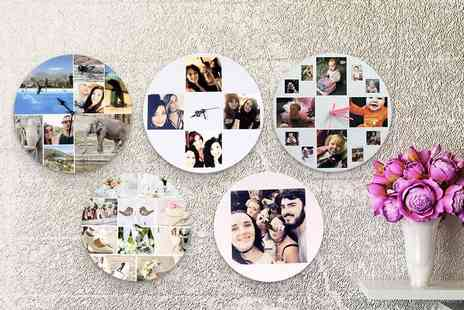 Your Perfect Canvas - Personalised wall clock- Save 80%