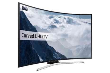 Groupon Goods Global GmbH - Samsung UE49KU6100 Smart 4K Ultra HD HDR 40 Inch, 49 Inch or 55 Inch Curved LED TV With Free Delivery - Save 15%
