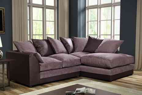 Groupon Goods Global GmbH - Byron Left Hand or Right Hand Fabric Corner Sofa With Free Delivery - Save 55%