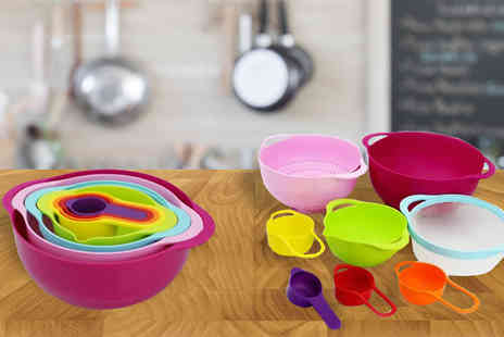 Duk - Eight Piece Colourful Kitchen Set - Save 80%