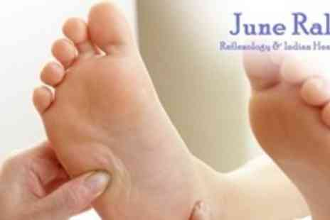 June Ralph Reflexology - Reflexology Treatment With Indian Head Massage - Save 57%