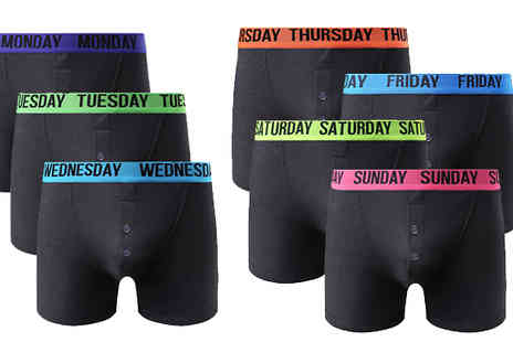 Gorgeous Selection - No Hassle 7 Day Boxers Set - Save 57%