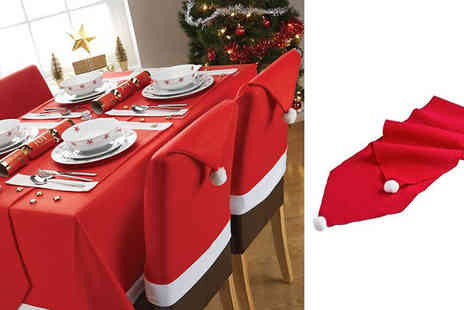 london exchainstore - Santa Table Runner with Pom Poms - Save 65%