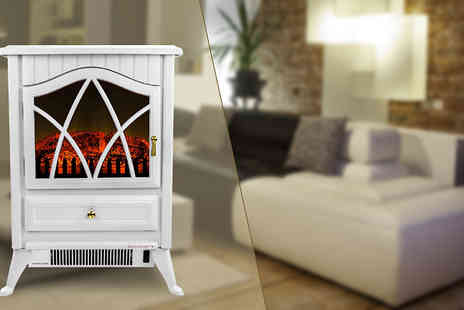 UK Home and Garden Store - 1850W Small Cream Stove Heater - Save 53%
