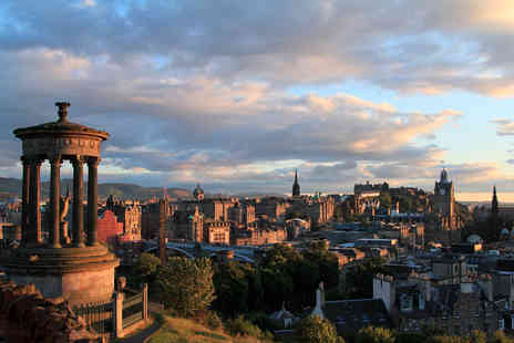 SuperBreak - Friday night 3 Star Edinburgh stay for two including a bottle of Prosecco, three course meal - Save 0%