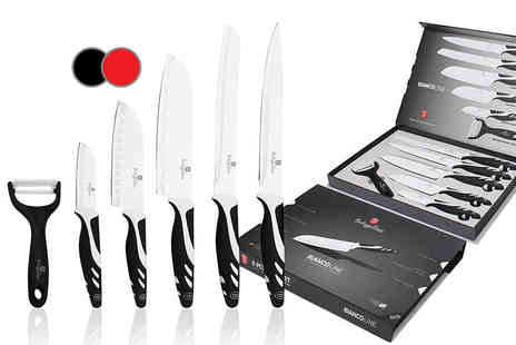 Meadow Vale - Berlinger Haus six piece culinary set choose from black or red - Save 89%