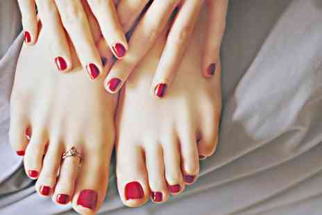 Sun Kissed Beauty - Shellac Manicure, Pedicure or Both - Save 50%