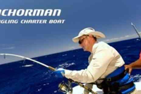 Anchorman Charter - Deep Sea Fishing Experience for Full Day For Four With Tuition, Equipment, and Food - Save 56%