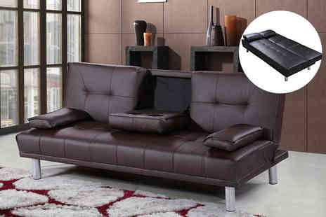 Furniture Instore - Faux leather luxury cinema style sofa bed - Save 66%